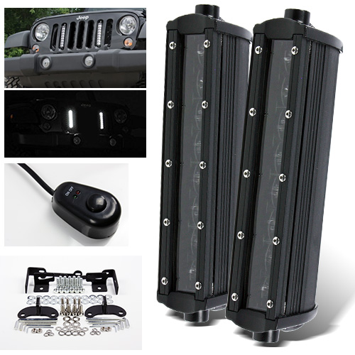 07 16 Wrangler Jk 48w Led Slim Vertical Led Light Bar